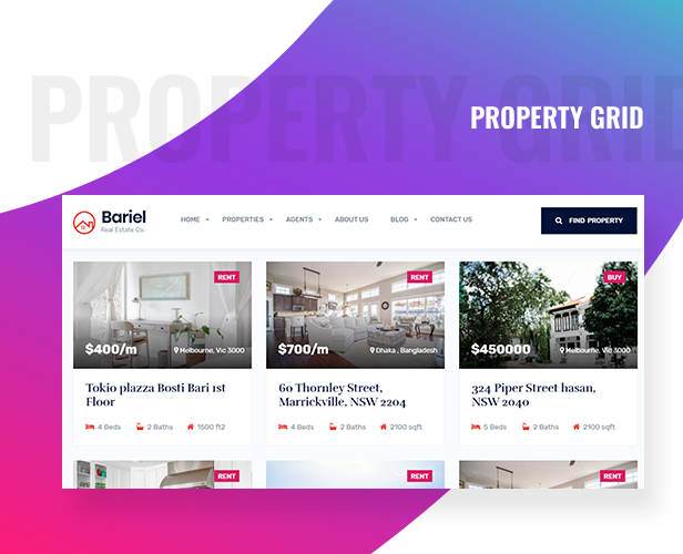 Bariel - Real Estate WordPress Theme - 4